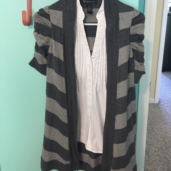 INC International Concepts Tops - EUC INC shirt with attached duster, size small